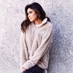 🥧🍁NEW Ivory Ella teddy Sherpa pullover